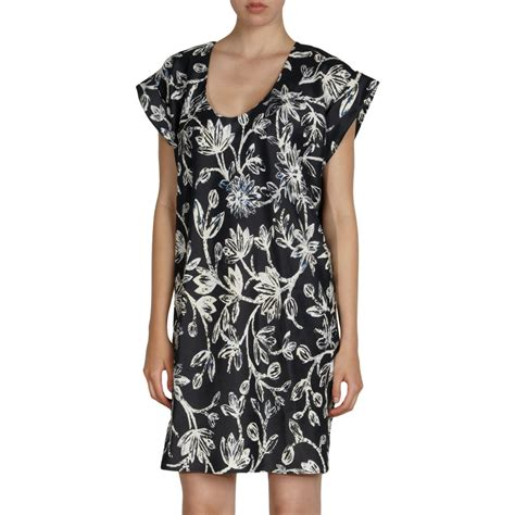 balenciaga iris tunic dress in black lyst