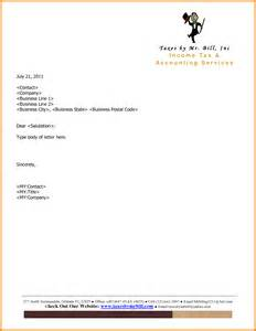 Business Letterhead Format Exle 6 Company Letterhead Exle Letter Format For