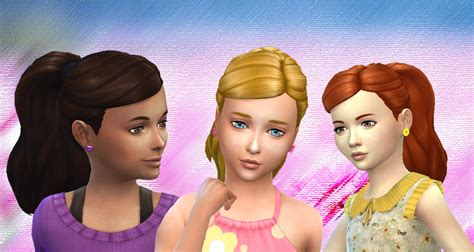 ponytailsims 4 child my stuff ponytail curled for girls