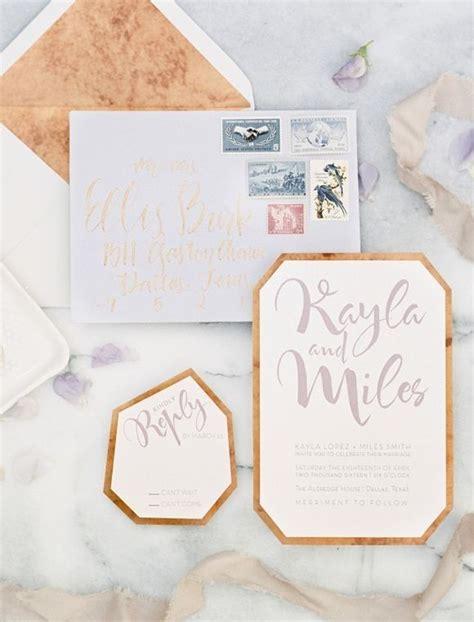 Hochzeitseinladung Kupfer by Moderne Lavendel Und Kupfer Hochzeitseinladungen Kunstop De