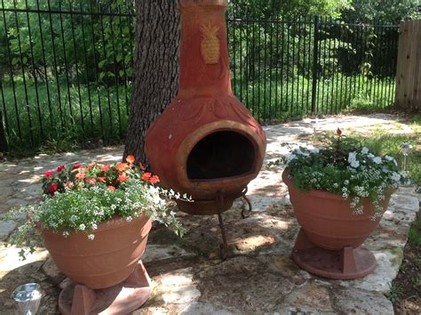 chiminea patio ideas special large clay chiminea outdoor fireplace bistrodre
