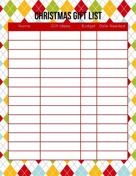 printable holiday planner christmas list maker printable portablegasgrillweber com