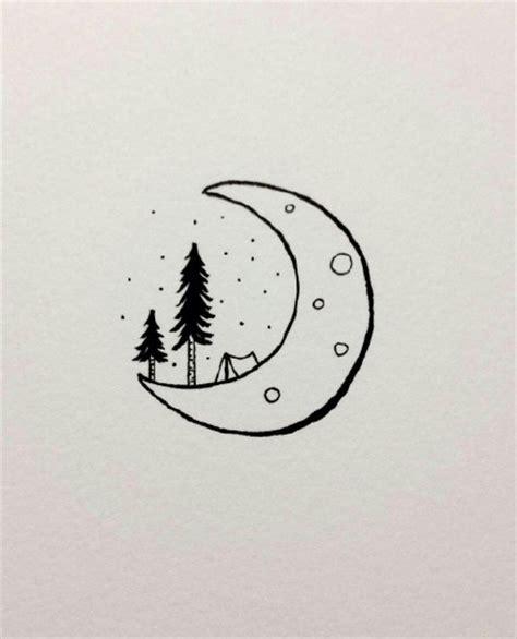 自然山水风景简笔画