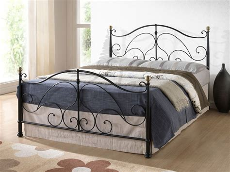 black metal beds birlea milano double black metal bed frame