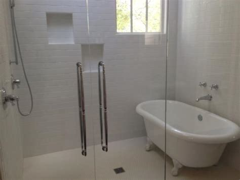 walk in shower with tub inside drain for clawfoot inside shower doityourself