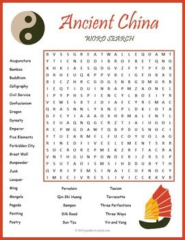 printable word search china ancient china word search puzzle by puzzles to print tpt