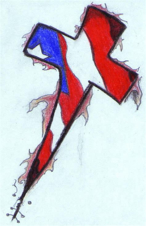 puerto rican flag tattoo design cross tat by djdaztec on deviantart