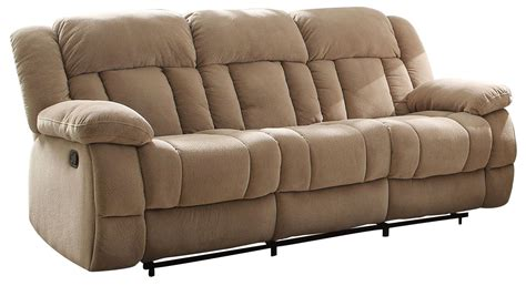 double reclining console sofa laurelton taupe double reclining sofa 9636nf 3 homelegance