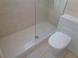 Coventry bathrooms 187 long walk in shower tray and glass screen