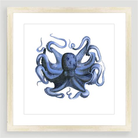 vintage inspired home decor vintage style octopus sea life wall art world market