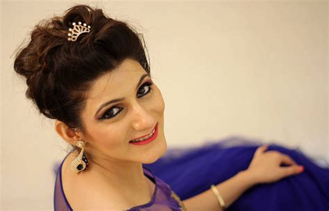 Wedding Hairstyle With Gown by Indian Engagement Gown Blue Dress Bridal Hairstyle