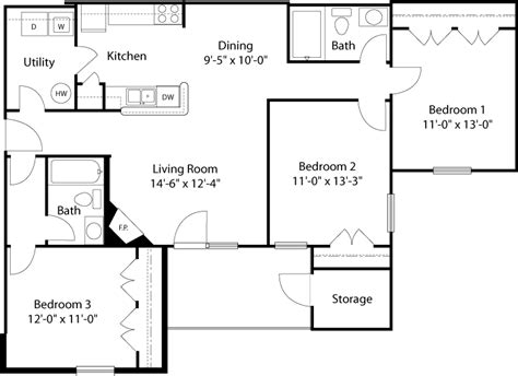 Standard Measurement Of Living Room by Glade Creek Roanoke Va Apartments Floor Plans And