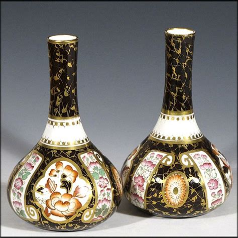 Wedgwood Vases Antique by Pair Of Antique Wedgwood Imari Cabinet Vases From Oh On