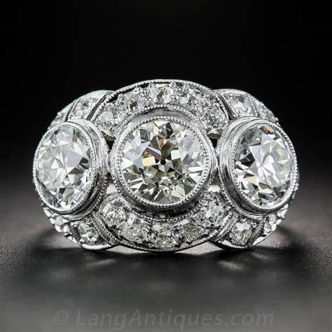 3 deco rings deco 3 65 carat platinum three ring for
