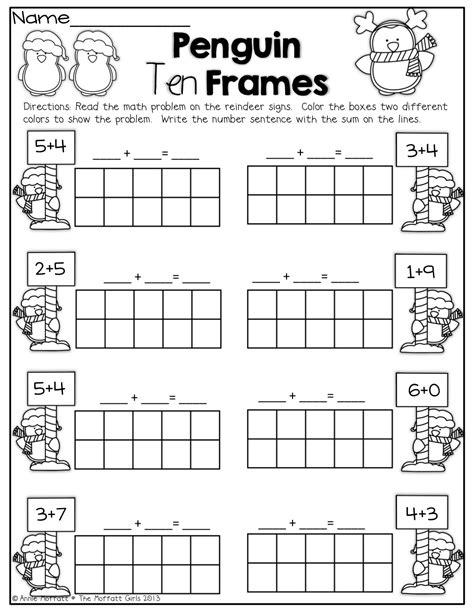 Penguin 10 Frames! | KinderLand Collaborative | Pinterest
