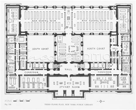 public library floor plan third floor plan new york public library fig 149 print