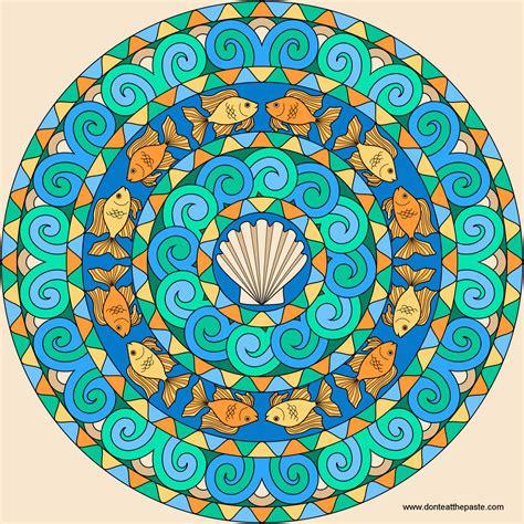 mandala colors don t eat the paste goldfish mandala to color
