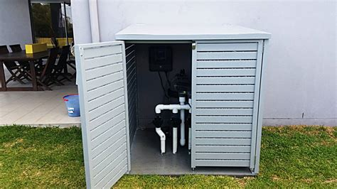 Pool Filter Cover Shed by Pool And Filter System Cover