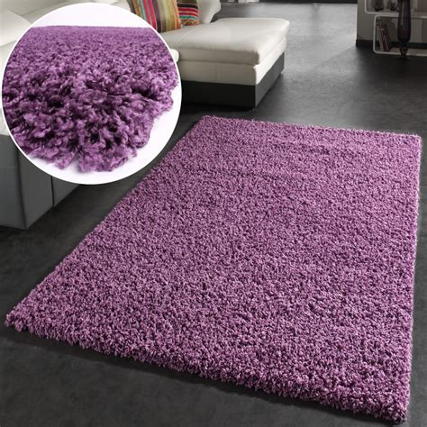 tappeto glicine shaggy hochflor langflor teppich sky einfarbig in lila