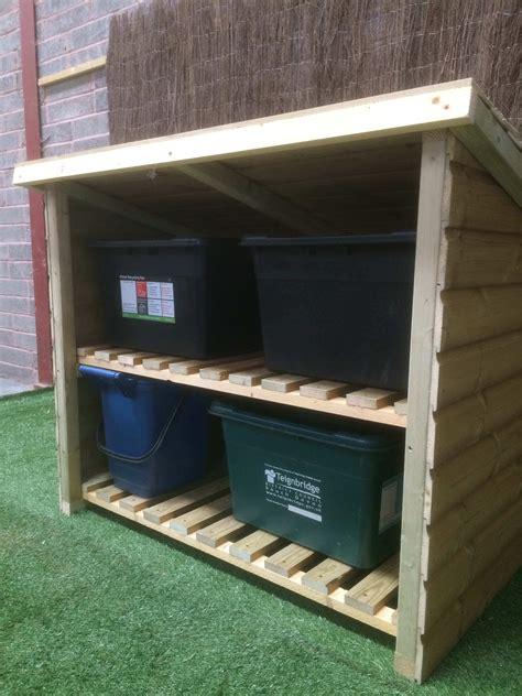 recycling box store outdoor wooden garden furniture