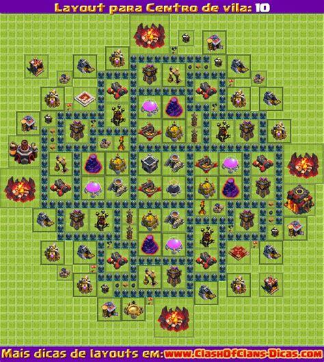 layout morcego cv 6 melhores layouts para centro de vila n 237 vel 10 clash of