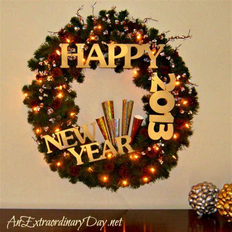 new year wreath easy diy new year s wreath an extraordinary day