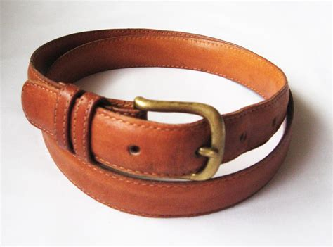 couch belts coach mens leather belt size 34 brown british tan skinny