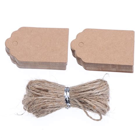 Craft Paper Tags - aliexpress buy 100pcs brown kraft paper tags