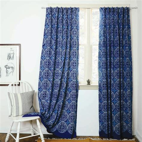 home decoration curtains indigo curtains blue curtains window boho bedroom home decor