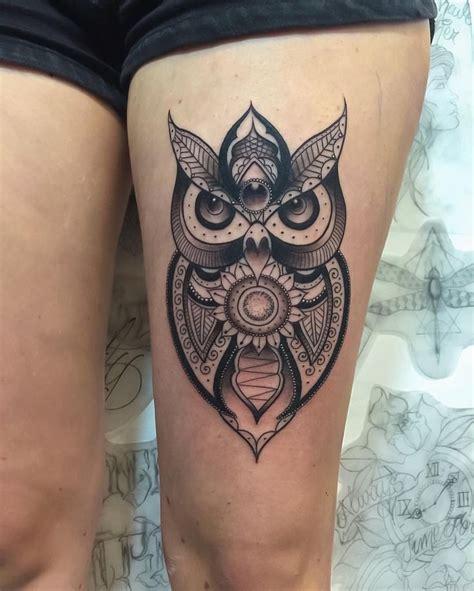 tattoo mandala owl black and grey mandala owl tattoo tattoo ideas