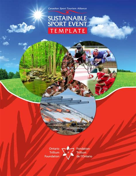 sustainable sport event template canadian sport tourism