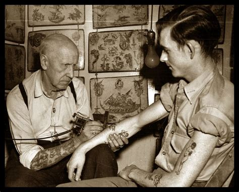 1950s tattoos joe clingan detroit mi artist from a news clipping on