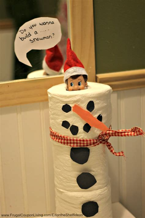 elf on the shelf ideas toilet paper snowman elf