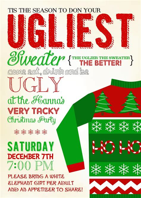 sweater invitation template invitations 10 sweater invitations
