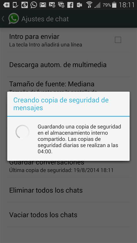 backup whatsapp android funciones de whatsapp no conocidas o menos utilizadas desarrollo actual
