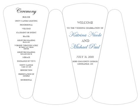 fan n card template dyi template for program fans free template weddingbee