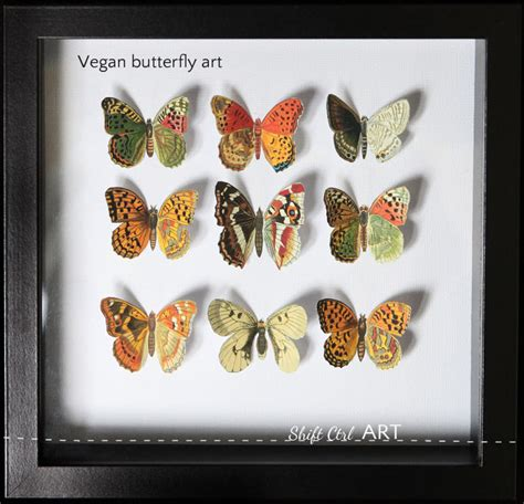 vegan home decor vegan butterfly framed art mother s day diy idea