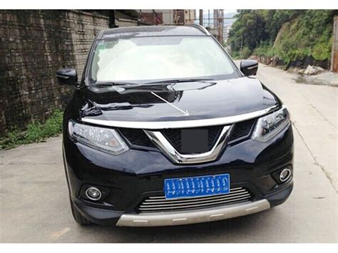 Garnis Depan X Trail 2015 Chrome aliexpress buy abs chrome front cover trim 3pcs for nissan rogue x trail 2014 2015