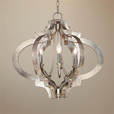 silver chandelier possini ornament aged silver 6 light chandelier