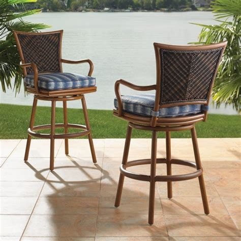 Wicker Top Bar Stools by Outdoor Wicker Bar Stools And Table Bar Stools