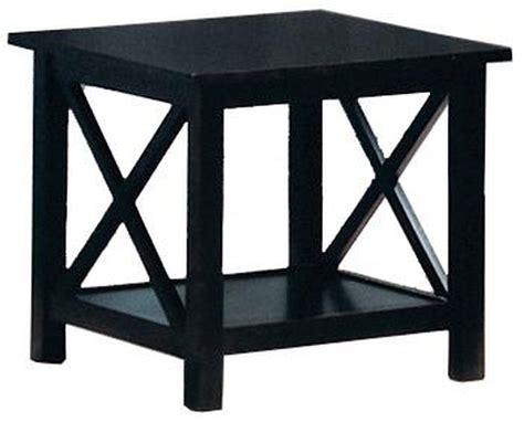 coaster 5909 black wood coffee table set a sofa