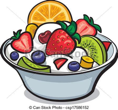 vecteur clipart de frais fruit salade csp17586152