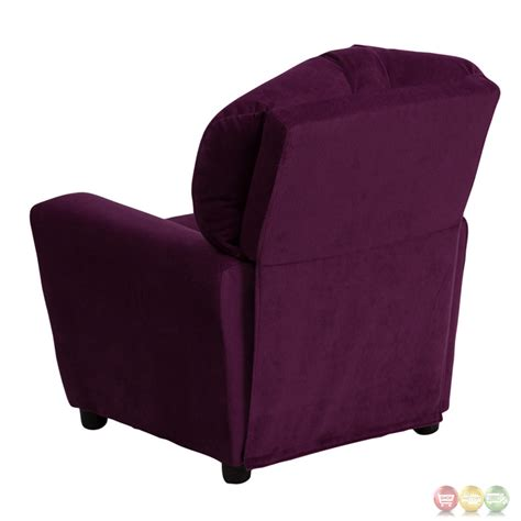 child recliner with cup holder contemporary purple microfiber kids recliner with cup