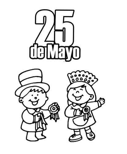 dibujos para colorear del 10 de mayo tarjetas de invitaci 243 n para la celebraci 243 n del 25 de mayo