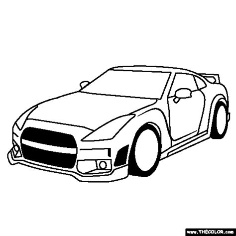nissan cars coloring pages free coloring pages of nissan skyline gtr