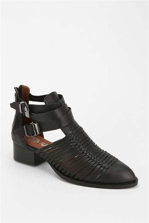 jeffrey cbell stinson cutout ankle boot in black lyst