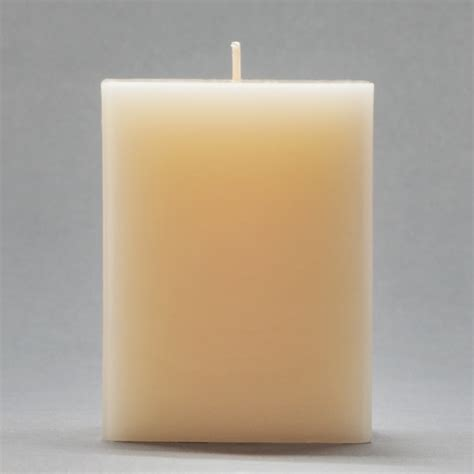 Square Candles 3x3x4 Ivory Square Pillar Candle