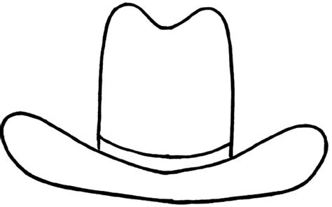 cowboy hat template cowboy hat outline coloring page sketch coloring page