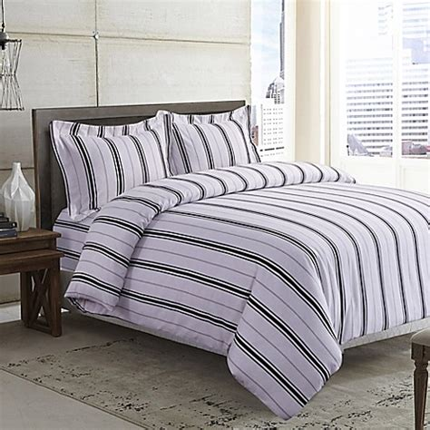 queen flannel duvet cover buy tribeca living stripe 170 gsm printed flannel duvet cover set in black grey from bed