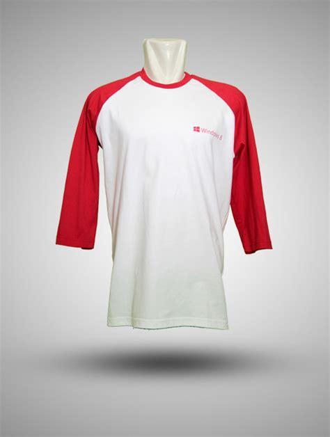 Kaos Olahraga Katun Combed Putih Merah kaos raglan baseball katun combed windows 8 putih merah produsen kaos kemeja jaket tas
